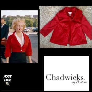 CHADWICKS•Red Swing Jacket